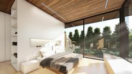 projeto, arquitetura, casas modernas, suites, dormitorios, madeira