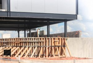 cornetta arquitetura, alvenaria, concreto, aparente, estrutura metalica, obra enxuta