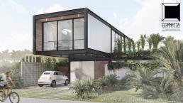 cornetta arquitetura, casas pre fabricadas, estrutura metalica, casas em estrutura metálica, fachadas, sobrados, modernos