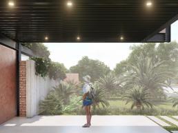 cornetta arquitetura, casas pre fabricadas, estrutura metalica, casas em estrutura metálica, garagem, steel deck
