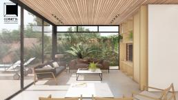 cornetta arquitetura, casas pre fabricadas, estrutura metalica, casas em estrutura metálica, ambientes integrados, madeira