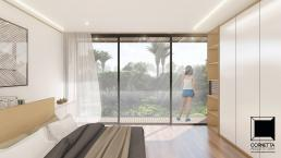 cornetta arquitetura, casas pre fabricadas, estrutura metalica, casas em estrutura metálica, suite, madeira, sacada
