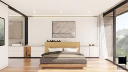 cornetta arquitetura, casas pre fabricadas, estrutura metalica, casas em estrutura metálica, suite, master, madeira, clean