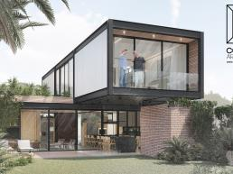 cornetta arquitetura, casas pre fabricadas, estrutura metalica, casas em estrutura metálica, prefab, steel, minimal, house