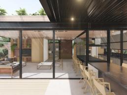 cornetta arquitetura, casas pre fabricadas, estrutura metalica, casas em estrutura metálica, varanda, steel deck
