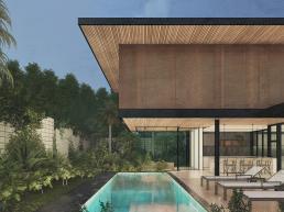 cornetta arquitetura, arquitetura, casas modernas, estrutura metalica, fachada, piscina, lazer, pergolado, deck