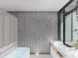 cornetta arquitetura, projeto, arquitetura, concreto aparente, estrutura metalica, banheiros modernos, concreto aparente, granilite