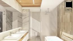 cornetta arquitetura, arquitetura, casas modernas, estrutura metalica, banheiros modernos, granilite, marmore, carrara, calacatta