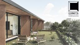 cornetta arquitetura, arquitetura, casas modernas, estrutura metalica, terraço, teto, jardim, rooftop