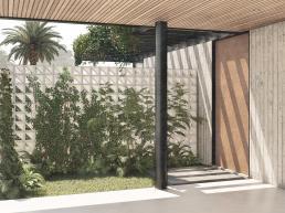 cornetta arquitetura, arquitetura, casas modernas, estrutura metalica, concreto aparente, garagem aberta, corten, cobogó