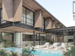 cornetta arquitetura, arquitetura, casas modernas, estrutura metalica, fachadas, brises, corten, lazer