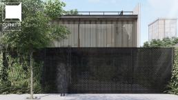 concreto aparente e estrutura metálica, cornetta arquitetura, fachadas, casas modernas, lofts, sobrados