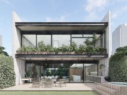 concreto aparente e estrutura metálica, cornetta arquitetura, concreto aparente, estrutura metalica, fachada, casas modernas