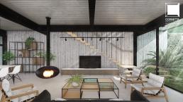cornetta arquitetura, projeto, arquitetura, concreto aparente, estrutura metalica, minimal, industrial, vintage