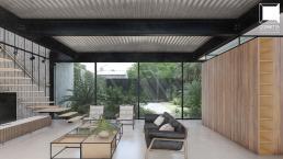 cornetta arquitetura, projeto, arquitetura, concreto aparente, estrutura metalica, prefab, steel, houses