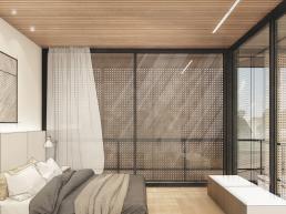 cornetta arquitetura, arquitetura, casas modernas, estrutura metalica, suite moderna, madeira, corten, vidro