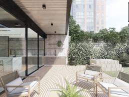 cornetta arquitetura, projeto, arquitetura, concreto aparente, estrutura metalica, varanda, lazer