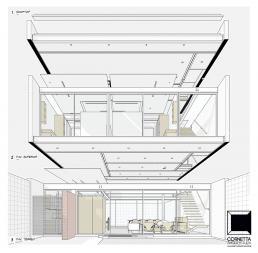 loft estrutura metalica concreto aparente vidro sao paulo