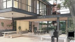 cornetta arquitetura, casas modernas, estruturas metalicas, varanda, deck, lazer