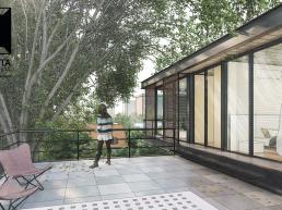 cornetta arquitetura, casas modernas, estruturas metalicas, rooftop, terraço, terazzo