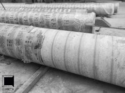 colunas, concreto, aparente