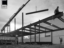 casas, modernas, prefabricadas, estruturas metalicas