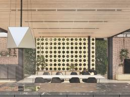 cornetta arquitetura, casas modernas, estruturas metalicas, cobogós, madeira, cozinha integrada