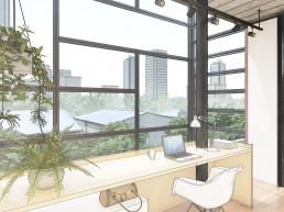 cornetta arquitetura, casas modernas, estruturas metalicas, home office, industrial, vintage