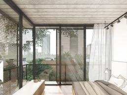 cornetta arquitetura, casas modernas, estruturas metalicas, suite, concreto aparente, sacadas