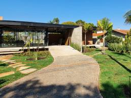 casas, terreas, modernas, estrutura metalica, tijolo ecologico, concreto, aparente