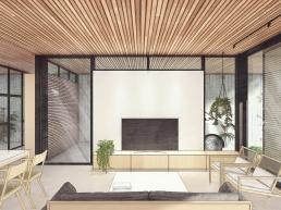 cornetta arquitetura, casas pre fabricadas, estruturas metalicas, sala, estar, living, vidro, concreto
