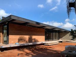 casa, tijolo aparente, tijolo ecológico, concreto aparente, estrutura metalica