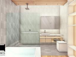 banheiros modernos, suites, granilite, madeira, spa, banheira, hidromassagem