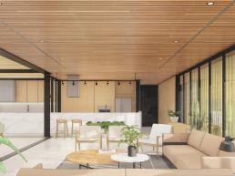 cornetta, arquitetura, casas modernas, ambientes, integrados, conjugados