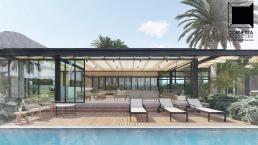 cornetta, arquitetura, casas modernas, varanda, deck, lazer, piscina, pedra natural, madeira