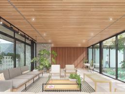 cornetta, arquitetura, casas modernas, minimalismo, aço, estrutura metalica, madeira, concreto