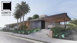 cornetta, arquitetura, casas modernas, fachadas, casas térreas, terreas