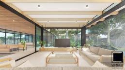 cornetta, arquitetura, casas modernas, varanda integrada, lazer, madeira laminada colada, mlc
