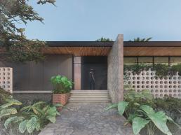 cornetta, arquitetura, casas modernas, porta, pivotante, fachadas minimalistas, pedra, madeira
