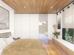 cornetta, arquitetura, casas modernas, projetos, interiores, suite, moderna, madeira