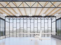 cornetta arquitetura, projetos, arquitetura, casas modernas, estrutura metalica, hangar, condominio aeronautico