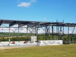 casas modernas, estrutura metalica, hangar, steel house, airplane