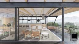 cornetta arquitetura, projetos, arquitetura, casas modernas, estrutura metalica, varanda, suspensa, madeira, industrial, vintage