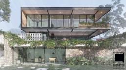 cornetta arquitetura, casas modernas, estruturas metalicas, fachadas, sobrados, casa de estrutura metálica