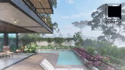 cornetta arquitetura, casas modernas, estruturas metalicas, lazer, piscina, deck, varanda