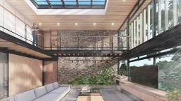 cornetta arquitetura, casas modernas, estruturas metalicas, loft, mezanino