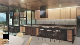 cornetta arquitetura, casas modernas, estruturas metalicas, cozinha aberta, madeira, loft, industrial, design, vintage