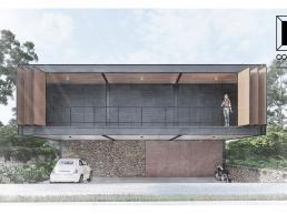 cornetta arquitetura, casas modernas, estruturas metalicas, minimalismo, aco corten