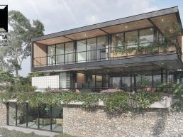 cornetta arquitetura, casas modernas, estruturas metalicas, sacada, mirante, sobrados, minimalistas