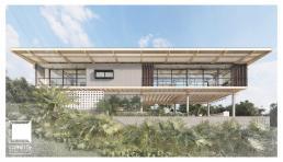 cornetta arquitetura, projetos, casas modernas, estrutura de madeira laminada colada, mlc, fachada